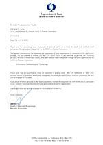 ГК ИТБ. Сертификат участника программы Европейского банка реконструкции и развития.
